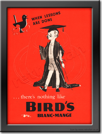 1939 Bird's Blanc-Mange - framed preview retro