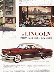 1952 ​Ford Lincoln - vintage ad
