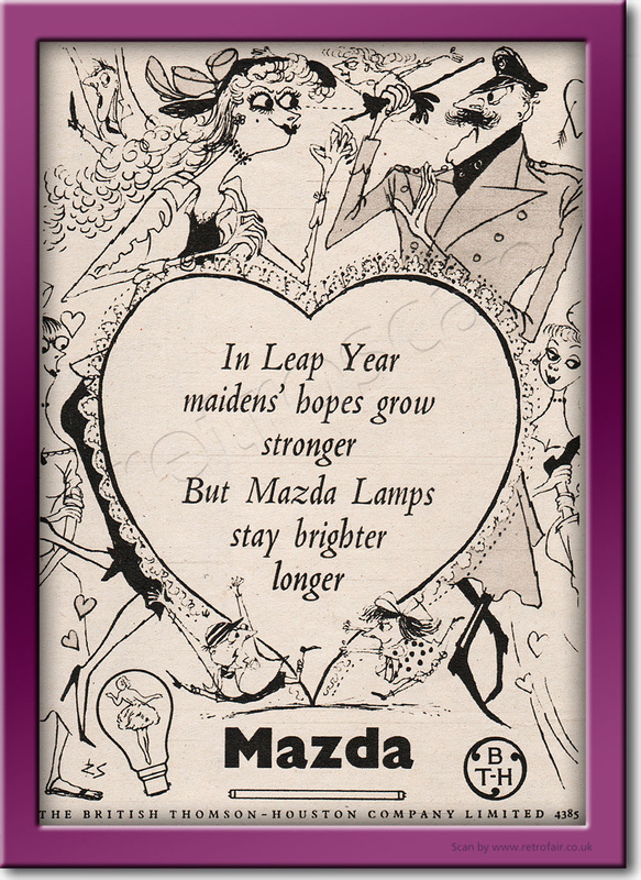 1952 vintage Mazda lamps ad