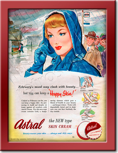 1951 Astral Skin Creamvintage advert