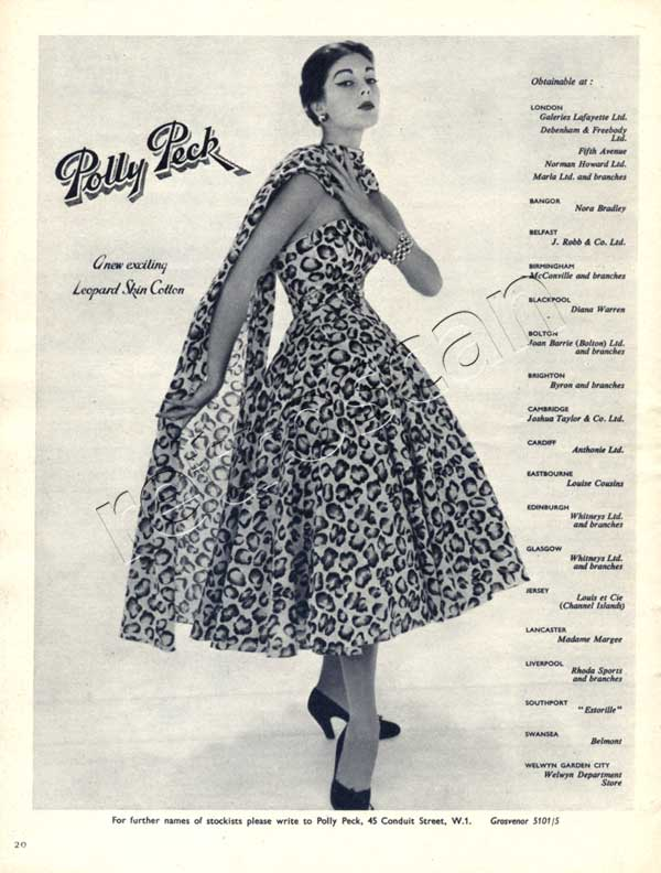 1953 Polly Peck advert