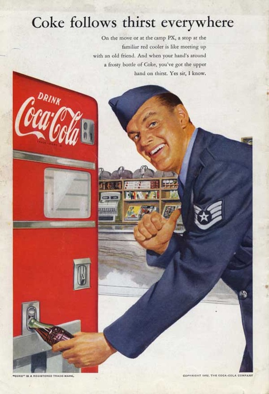 1952 Vintage Coca Cola Advert Air force Pilot