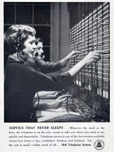 1950 Bell Telephone Systems Exchange Operators