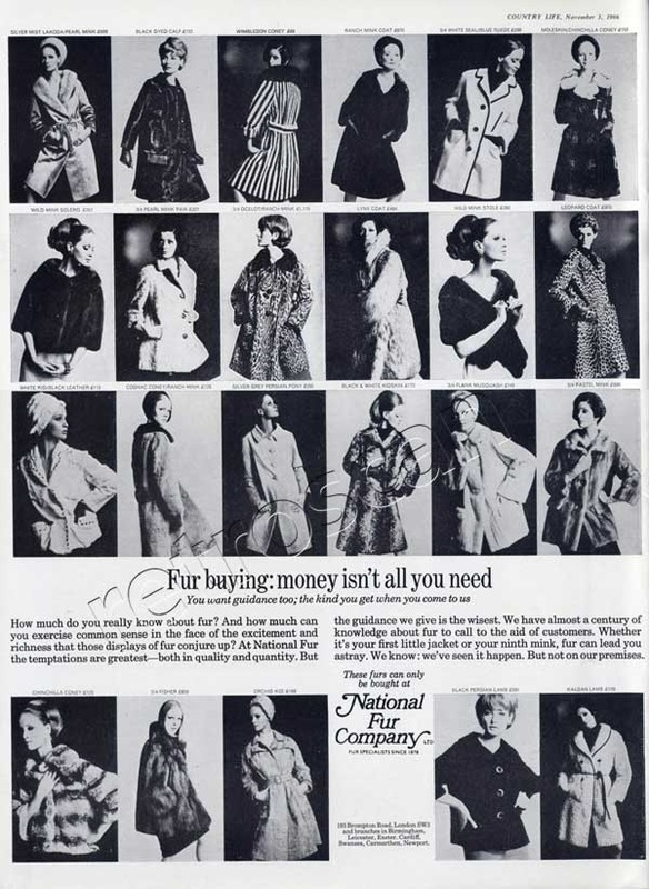 1966 National Fur Company vintage ad