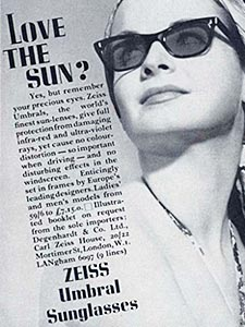 1964 Zeiss Sunglasses - vintage ad