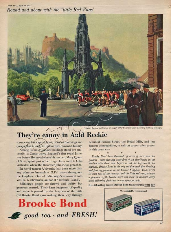 1955 Brooke Bond Tea Edinburgh
