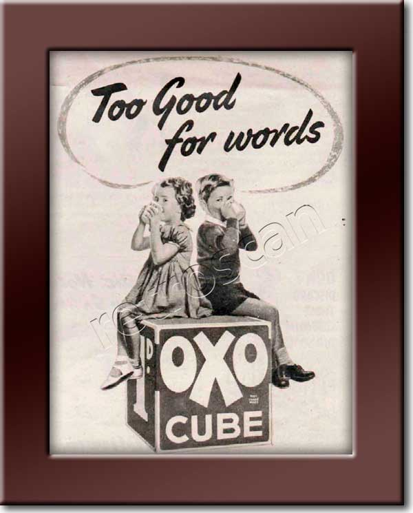 1952 vintage OXO Cubes ad