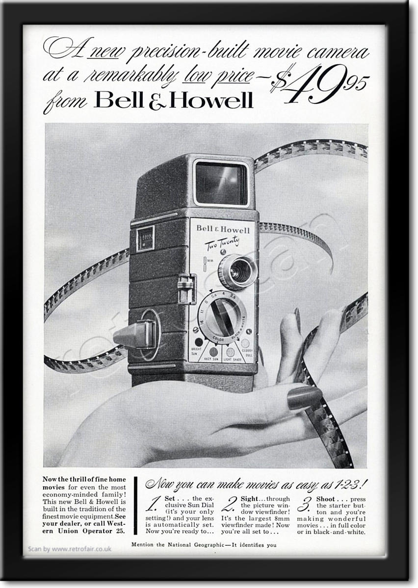 vintage 1953 Bell & Howell ad