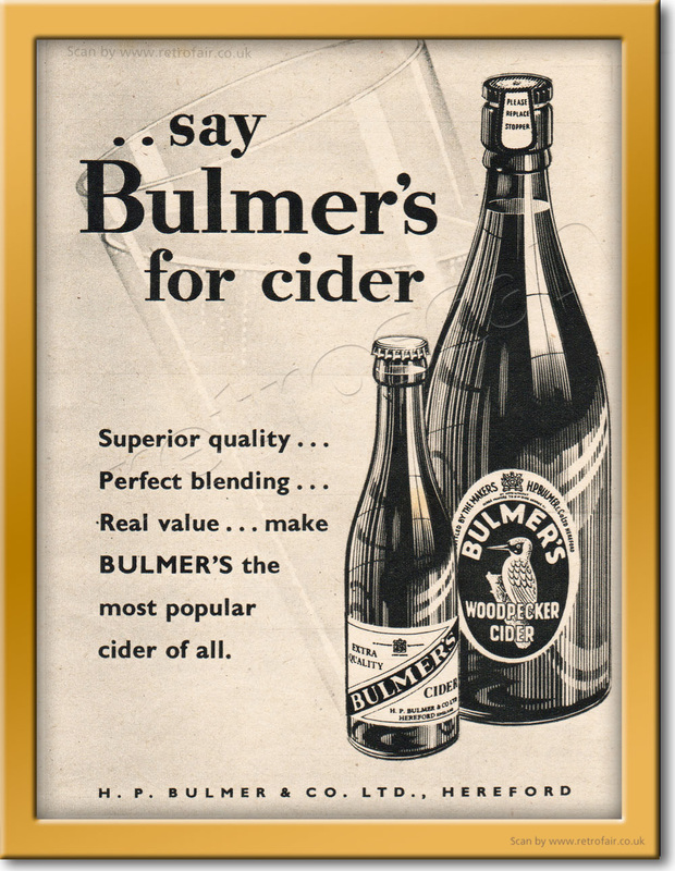1953 Bulmer's Cider - framed preview vintage ad