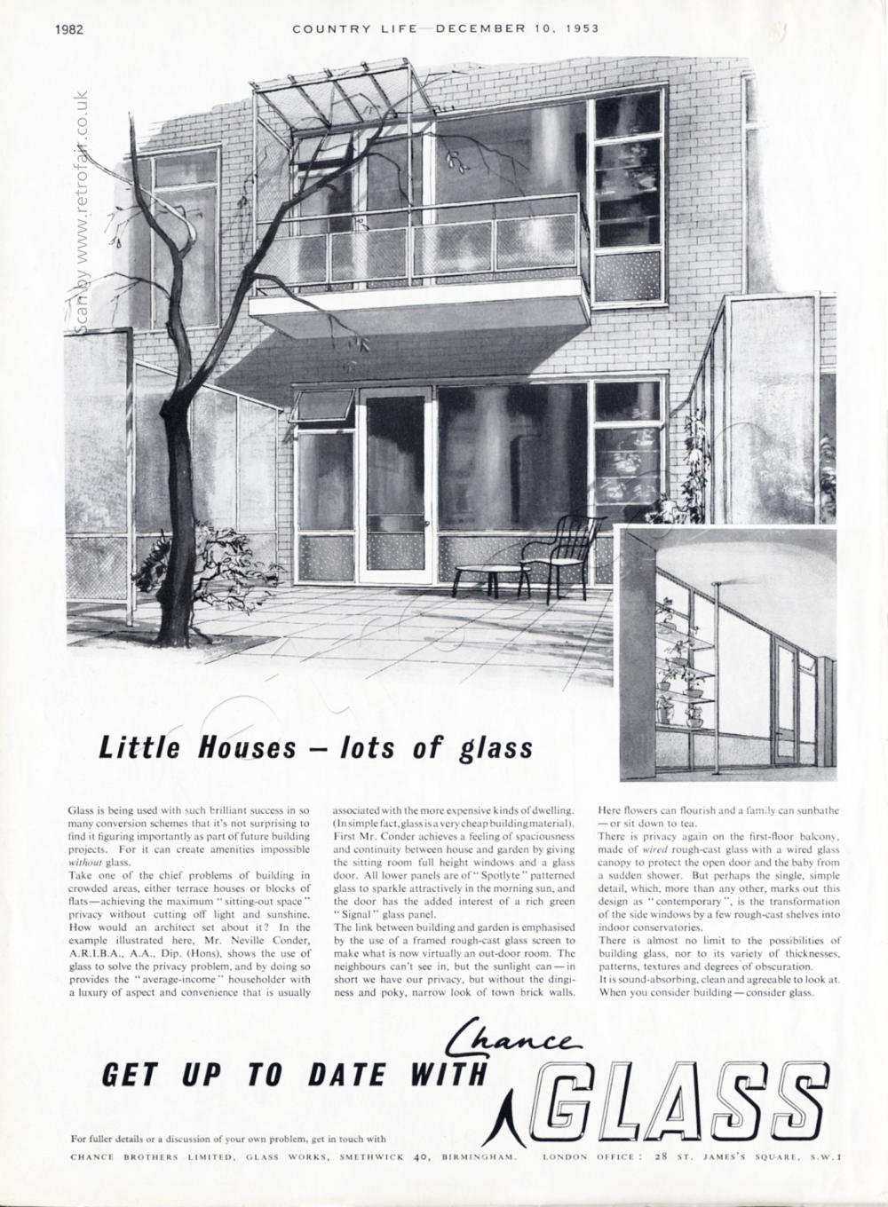 1953 Chance Glass vintage ad