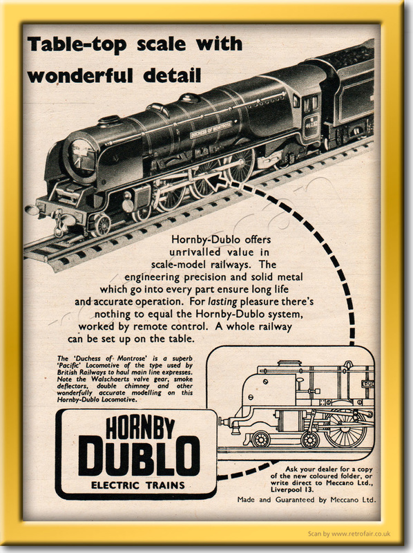 1953 Hornby Dublo - framed preview vintage ad