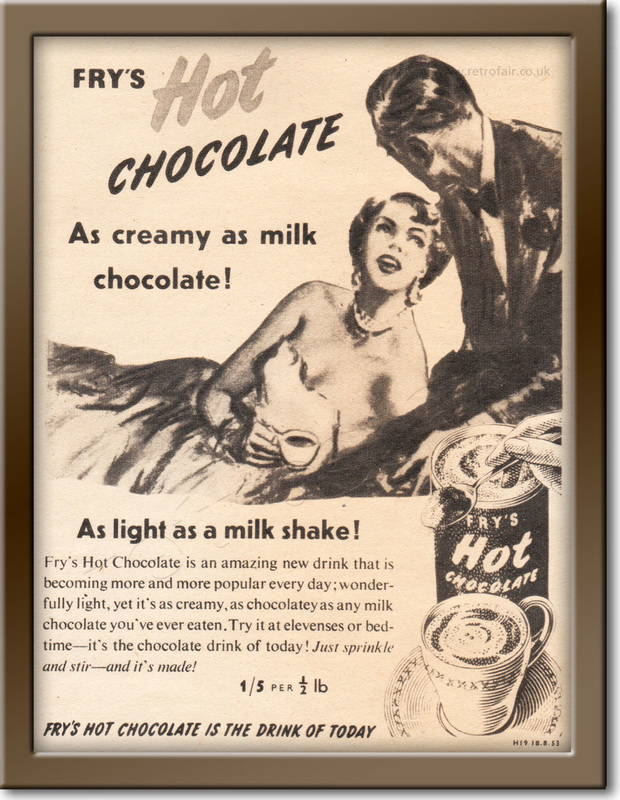 1953 Fry's Hot Chocolate - vintage magazine ad