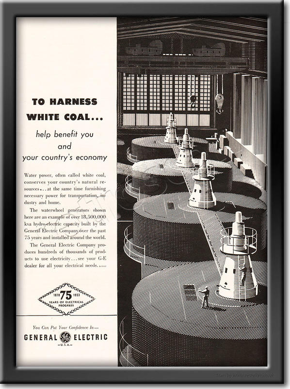 1953 General Electric - framed preview retro