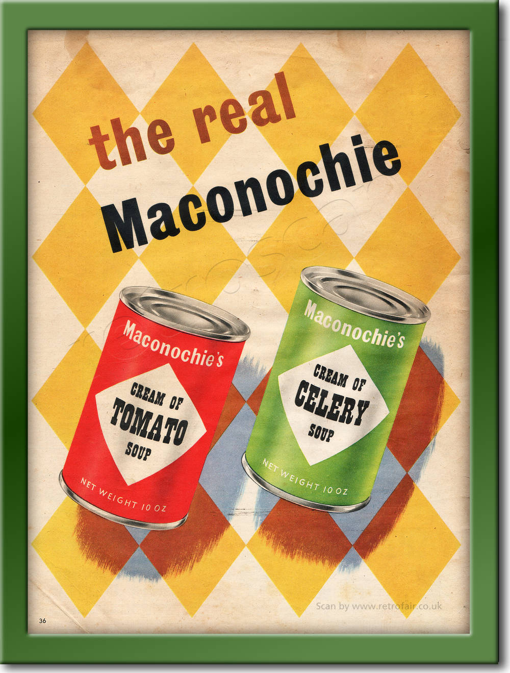 1953 Maconochie's Soup - framed preview retro