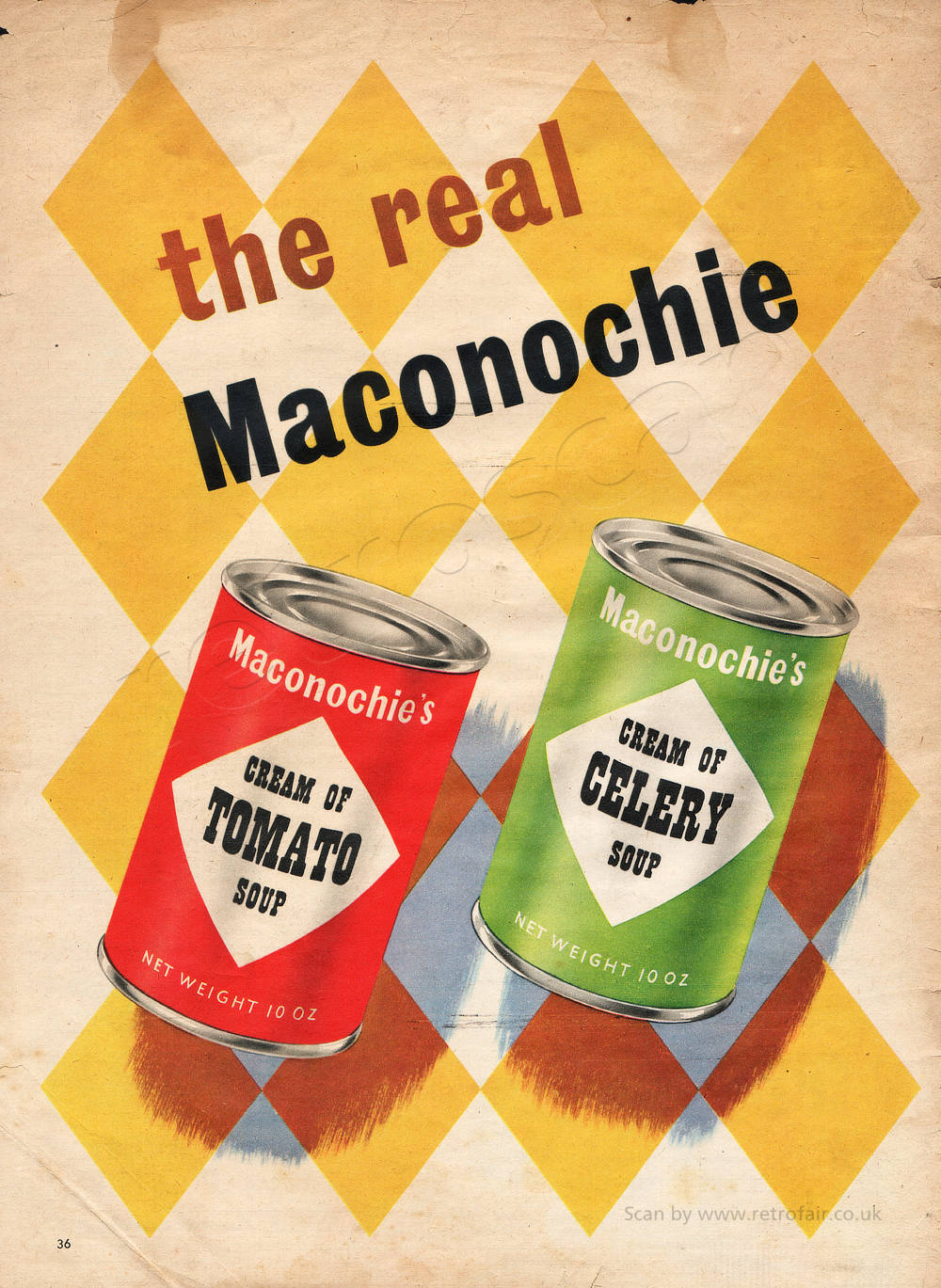 1953 Maconochie's Soup - unframed vintage ad