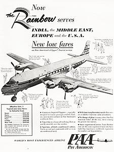 1953 Pan Am  - vintage ad