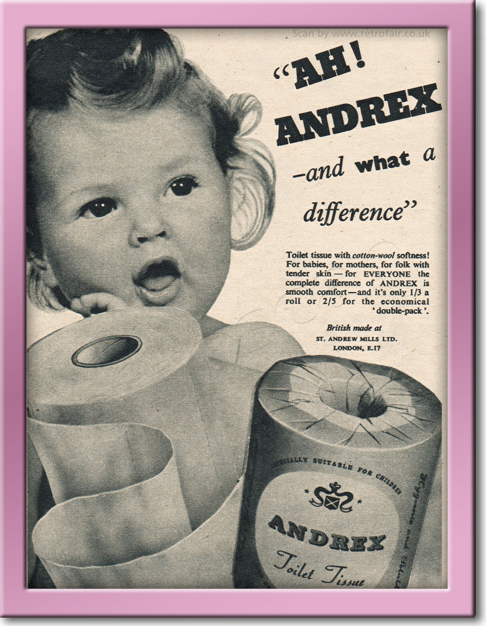 1954 retro Andrex advert
