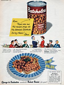 1954 Batchelors Baked Beans - vintage ad