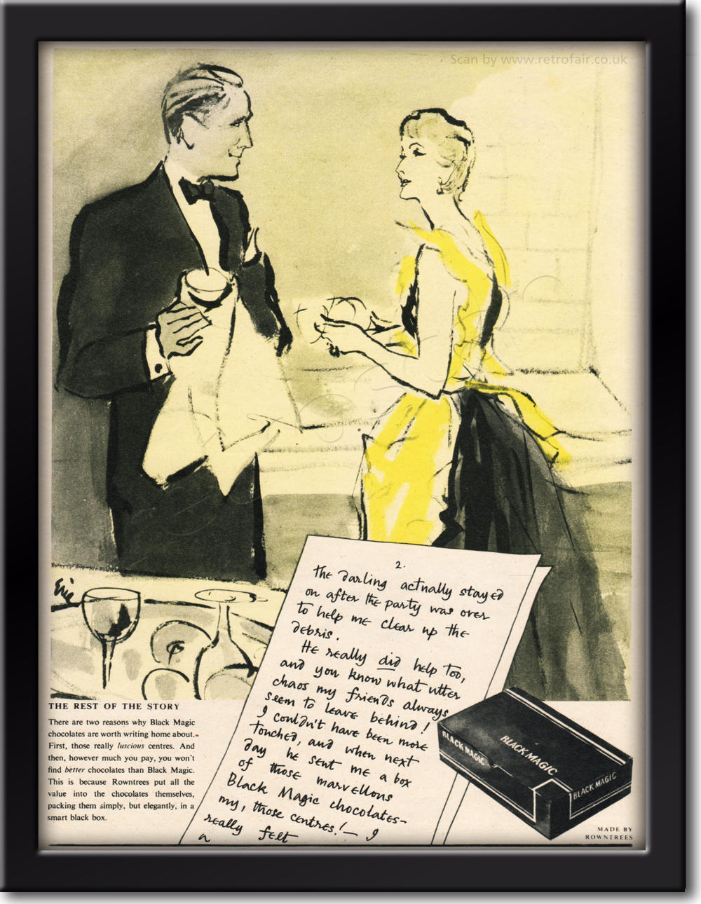 1954 Black Magic Chocolates - framed preview retro