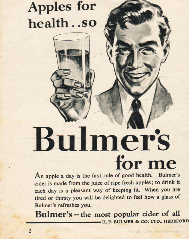 1954 Bulmer's Cider - framed preview vintage ad