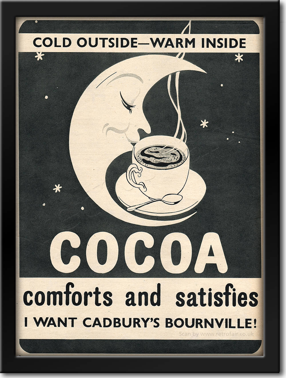 1954 Cadbury's Cocoa - framed preview retro