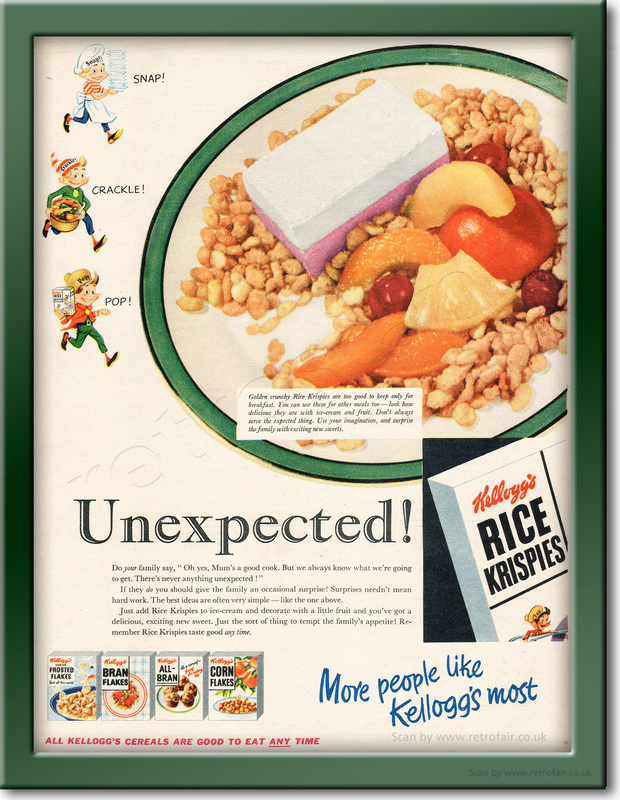 1954 Kellogg's Rice Krispies - framed preview retro