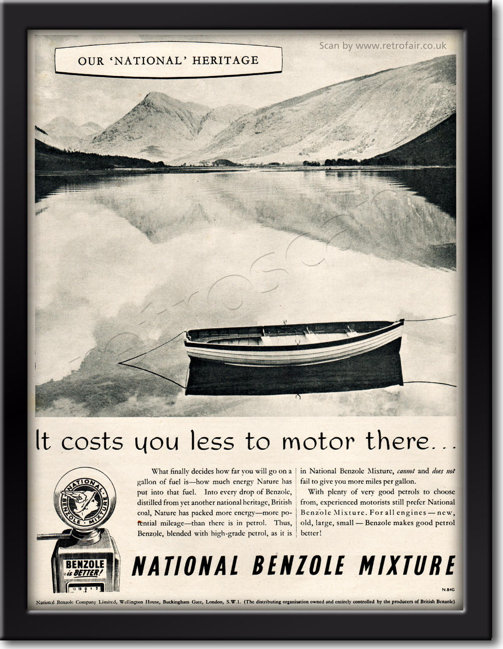 1954 vintage National Benzole advert
