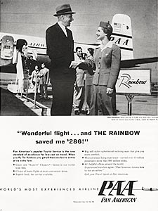 1954 Pan Am Airlines - vintage ad