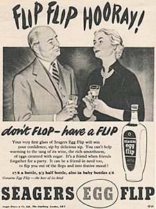 1954 ​Seagers Egg Flip - vintage ad