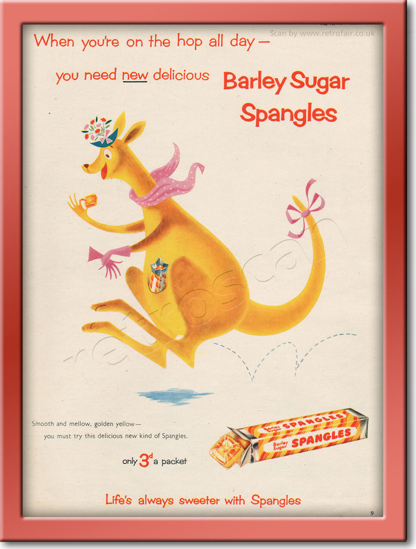 1954 Barley Sugar Spangles - framed preview retro