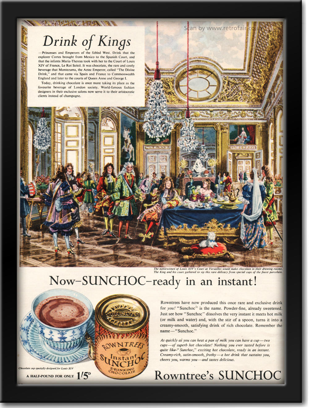 vintage 1954 Rowntrees Sunchoc ad