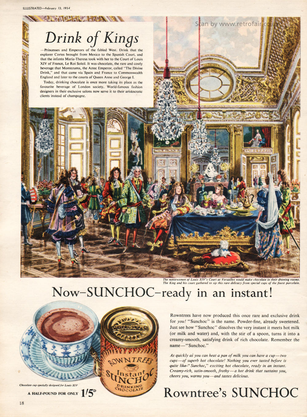 1954 Rowntrees Sunchoc Drink