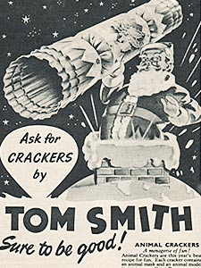 1954 ​Tom Smith Crackers - vintage ad