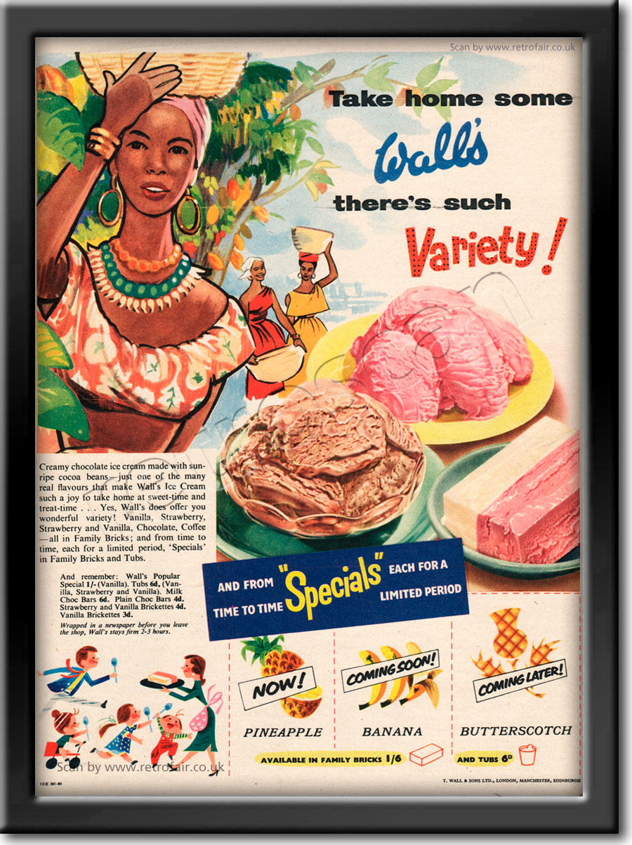 1954 Wall's Ice Cream - framed preview retro