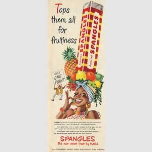 1954 Spangles Fruit Hat