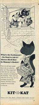 1955 Kit-E-Kat advert
