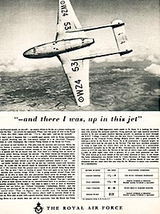 1954 Royal Air Force Recruitment - vintage ad