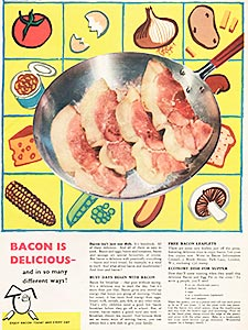 1955 Bacon Information - vintage ad