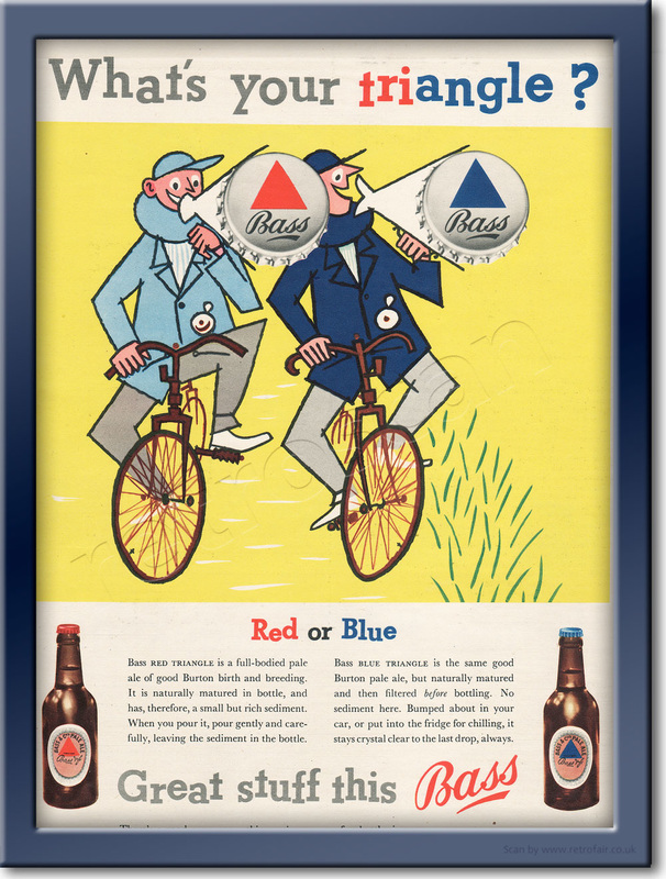 1955 Bass Triangle Beer - framed preview retro