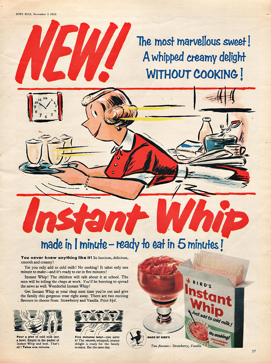 1955 Birds Instant Whip - unframed