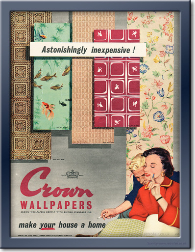 1955 Crown Wallpapers - framed preview retro