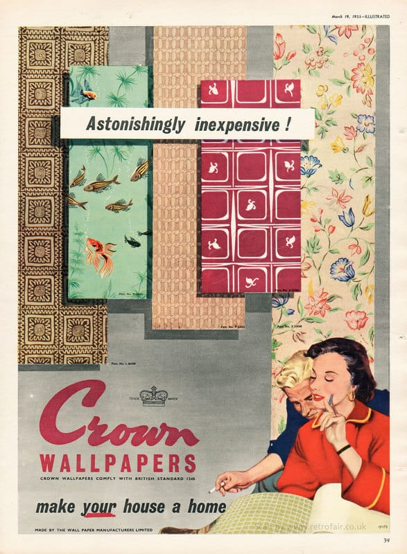 1955 Crown Wallpapers - unframed vintage ad
