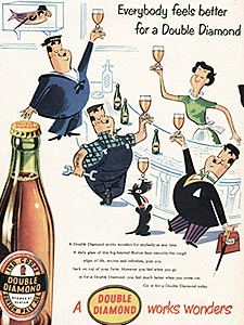 1955 Double Diamond - vintage ad