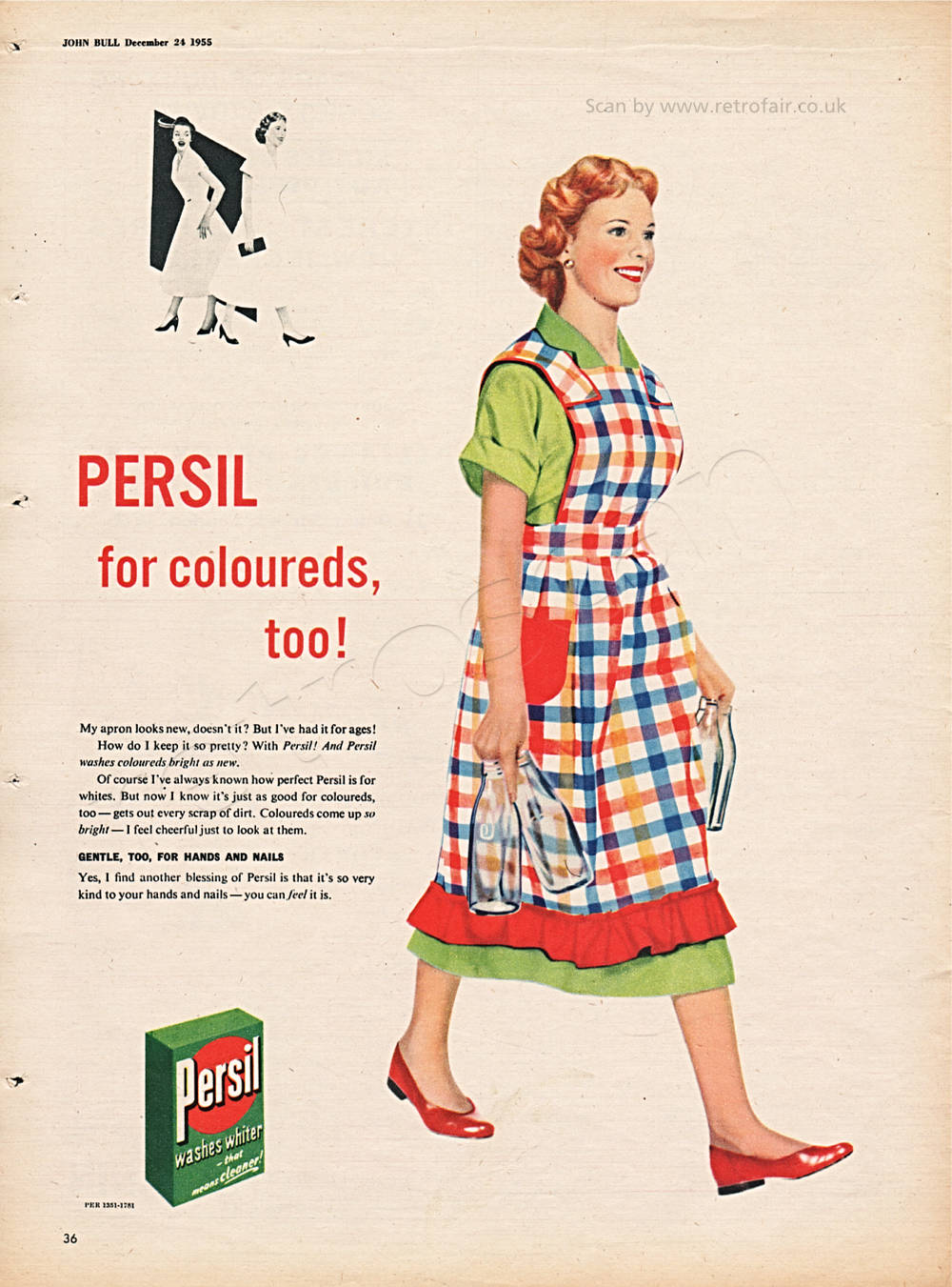 1955 Persil Washing Powder vintage ad