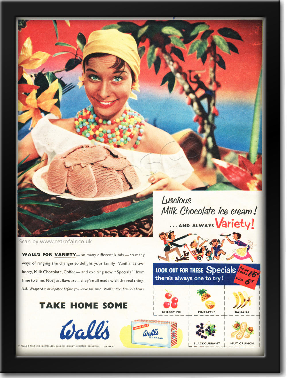 1955 Walls Ice Cream - Caribbean Woman - framed preview