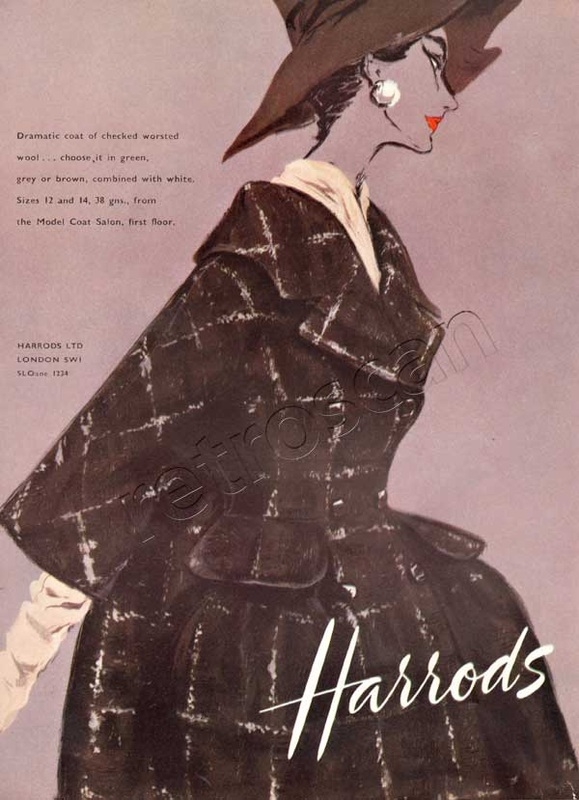 1958 Harrods Fashion advert