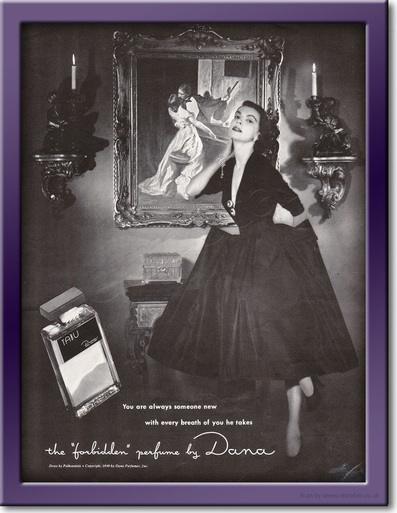 1949 Dana Perfume - framed preview retro