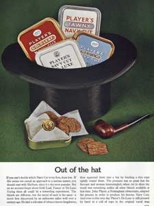 1962 Players Navy Cut Top Hat
