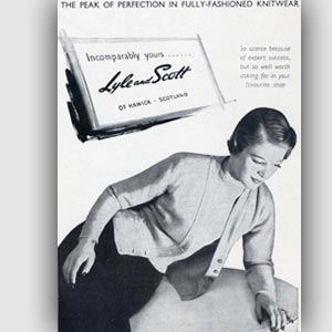 1950 Lyle and Scott advert