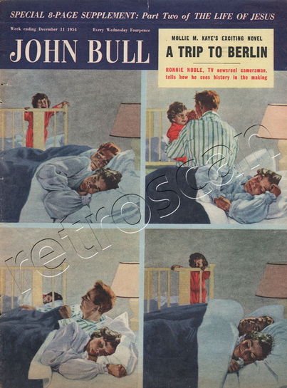 December 11 1954 John Bull Baby Crying in the night- unframed vintage magazine cover